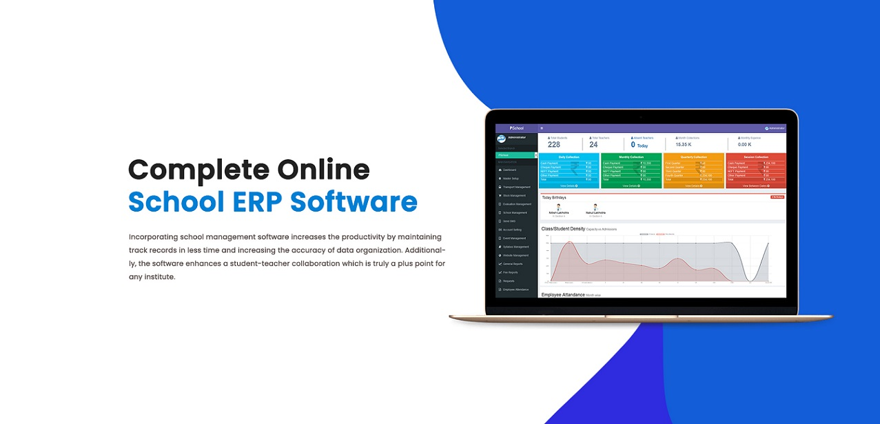 complete online school ERP Software